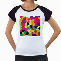 Stained Glass Abstract Background Women s Cap Sleeve T
