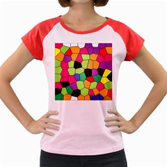 Stained Glass Abstract Background Women s Cap Sleeve T-Shirt