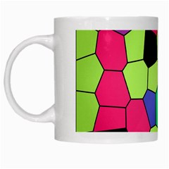 Stained Glass Abstract Background White Mugs