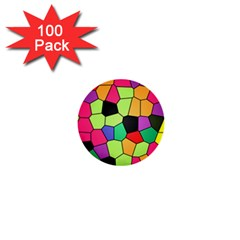 Stained Glass Abstract Background 1  Mini Buttons (100 pack)