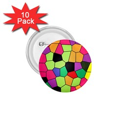 Stained Glass Abstract Background 1.75  Buttons (10 pack)