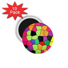 Stained Glass Abstract Background 1.75  Magnets (10 pack)