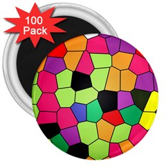 Stained Glass Abstract Background 3  Magnets (100 pack)