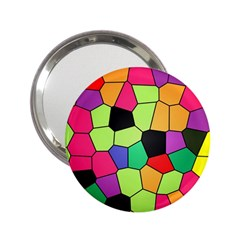 Stained Glass Abstract Background 2.25  Handbag Mirrors