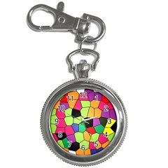 Stained Glass Abstract Background Key Chain Watches