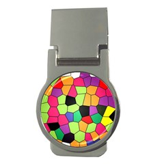 Stained Glass Abstract Background Money Clips (Round)