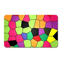 Stained Glass Abstract Background Magnet (Rectangular)