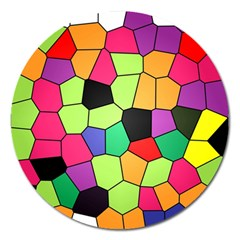 Stained Glass Abstract Background Magnet 5  (Round)
