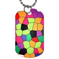 Stained Glass Abstract Background Dog Tag (Two Sides)