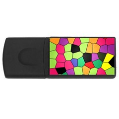 Stained Glass Abstract Background USB Flash Drive Rectangular (1 GB)
