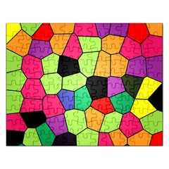 Stained Glass Abstract Background Rectangular Jigsaw Puzzl
