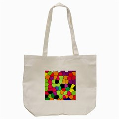 Stained Glass Abstract Background Tote Bag (Cream)