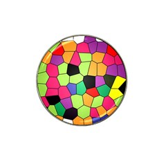 Stained Glass Abstract Background Hat Clip Ball Marker (4 pack)
