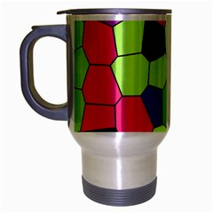 Stained Glass Abstract Background Travel Mug (Silver Gray)