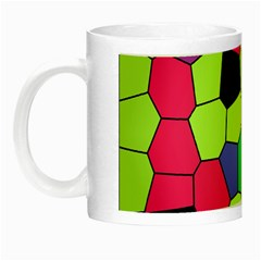 Stained Glass Abstract Background Night Luminous Mugs