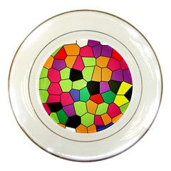 Stained Glass Abstract Background Porcelain Plates