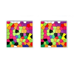 Stained Glass Abstract Background Cufflinks (Square)