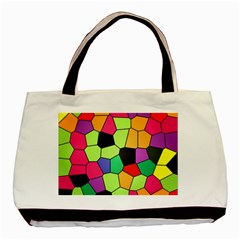 Stained Glass Abstract Background Basic Tote Bag