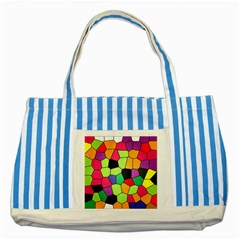 Stained Glass Abstract Background Striped Blue Tote Bag