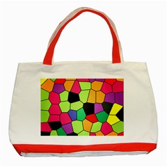 Stained Glass Abstract Background Classic Tote Bag (Red)