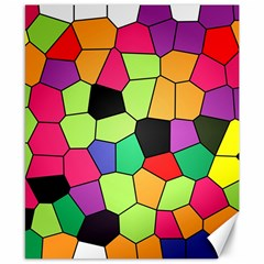 Stained Glass Abstract Background Canvas 8  x 10