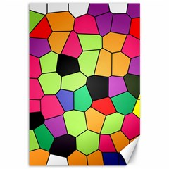 Stained Glass Abstract Background Canvas 12  x 18