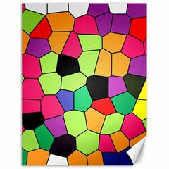 Stained Glass Abstract Background Canvas 18  x 24