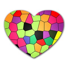 Stained Glass Abstract Background Heart Mousepads