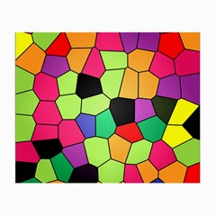 Stained Glass Abstract Background Small Glasses Cloth (2-Side)