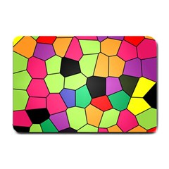Stained Glass Abstract Background Small Doormat