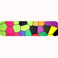 Stained Glass Abstract Background Large Bar Mats