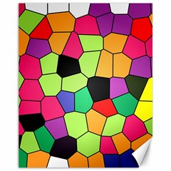 Stained Glass Abstract Background Canvas 11  x 14