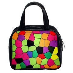 Stained Glass Abstract Background Classic Handbags (2 Sides)