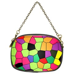 Stained Glass Abstract Background Chain Purses (One Side)