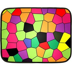 Stained Glass Abstract Background Double Sided Fleece Blanket (Mini)