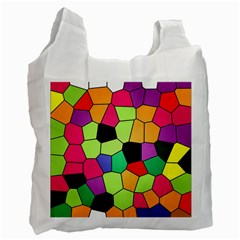 Stained Glass Abstract Background Recycle Bag (One Side)