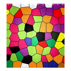 Stained Glass Abstract Background Shower Curtain 66  x 72  (Large)