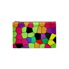 Stained Glass Abstract Background Cosmetic Bag (Small)