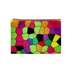 Stained Glass Abstract Background Cosmetic Bag (Medium)