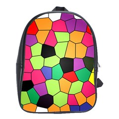 Stained Glass Abstract Background School Bags(Large)