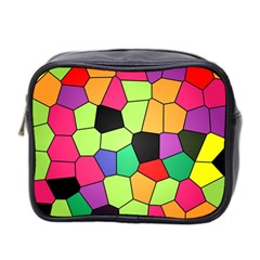 Stained Glass Abstract Background Mini Toiletries Bag 2-Side