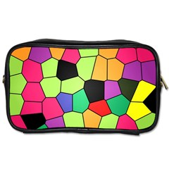Stained Glass Abstract Background Toiletries Bags 2-Side