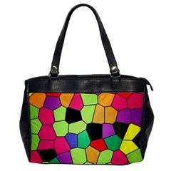 Stained Glass Abstract Background Office Handbags