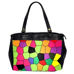 Stained Glass Abstract Background Office Handbags (2 Sides)