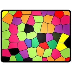 Stained Glass Abstract Background Fleece Blanket (Large)