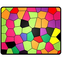 Stained Glass Abstract Background Fleece Blanket (Medium)