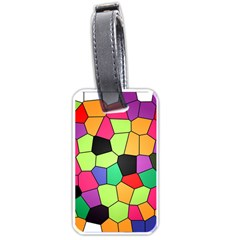 Stained Glass Abstract Background Luggage Tags (One Side)