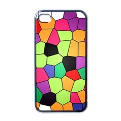 Stained Glass Abstract Background Apple iPhone 4 Case (Black)