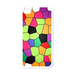 Stained Glass Abstract Background Apple iPhone 4 Case (White)