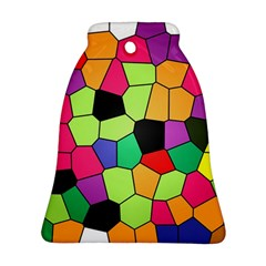 Stained Glass Abstract Background Bell Ornament (2 Sides)